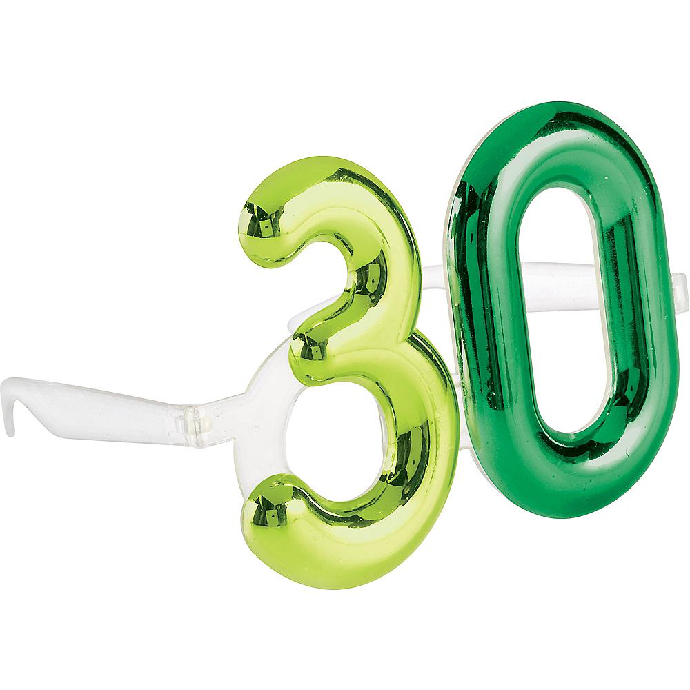 Metallic 30th Birthday Glasses Image #1
