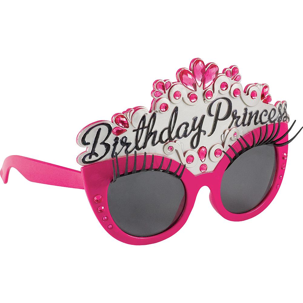 Pink Gemstone Birthday Princess Sunglasses Image #1