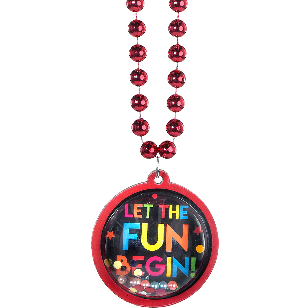 Multicolor Birthday Pendant Bead Necklace Image #1