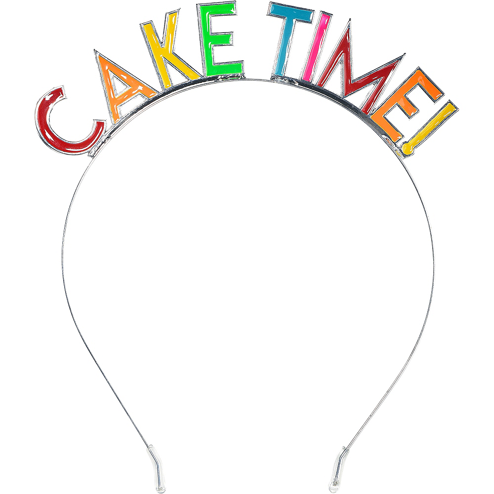 Multicolor Cake Time Birthday Headband Image #1