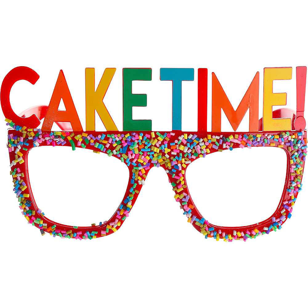 Multicolor Cake Time Birthday Glasses Image #1