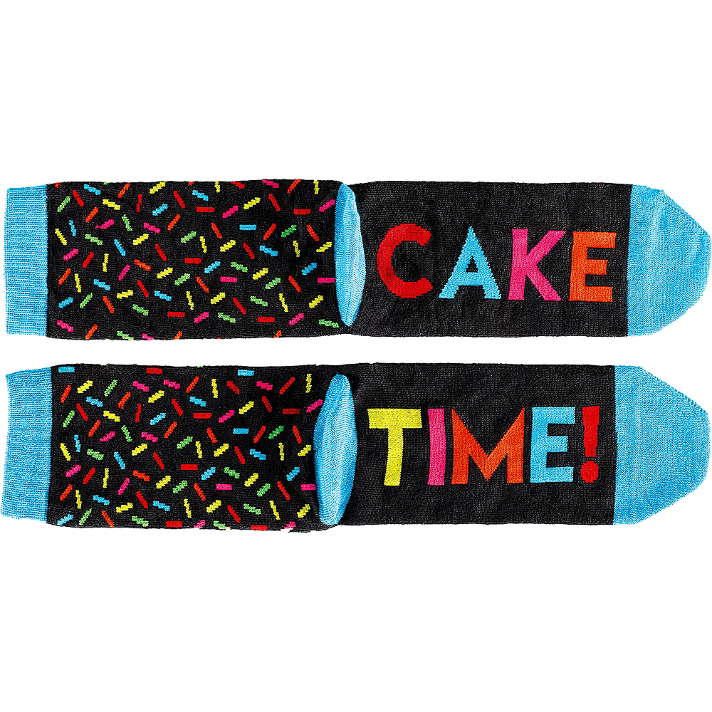 Multicolor Birthday Crew Socks Image #1