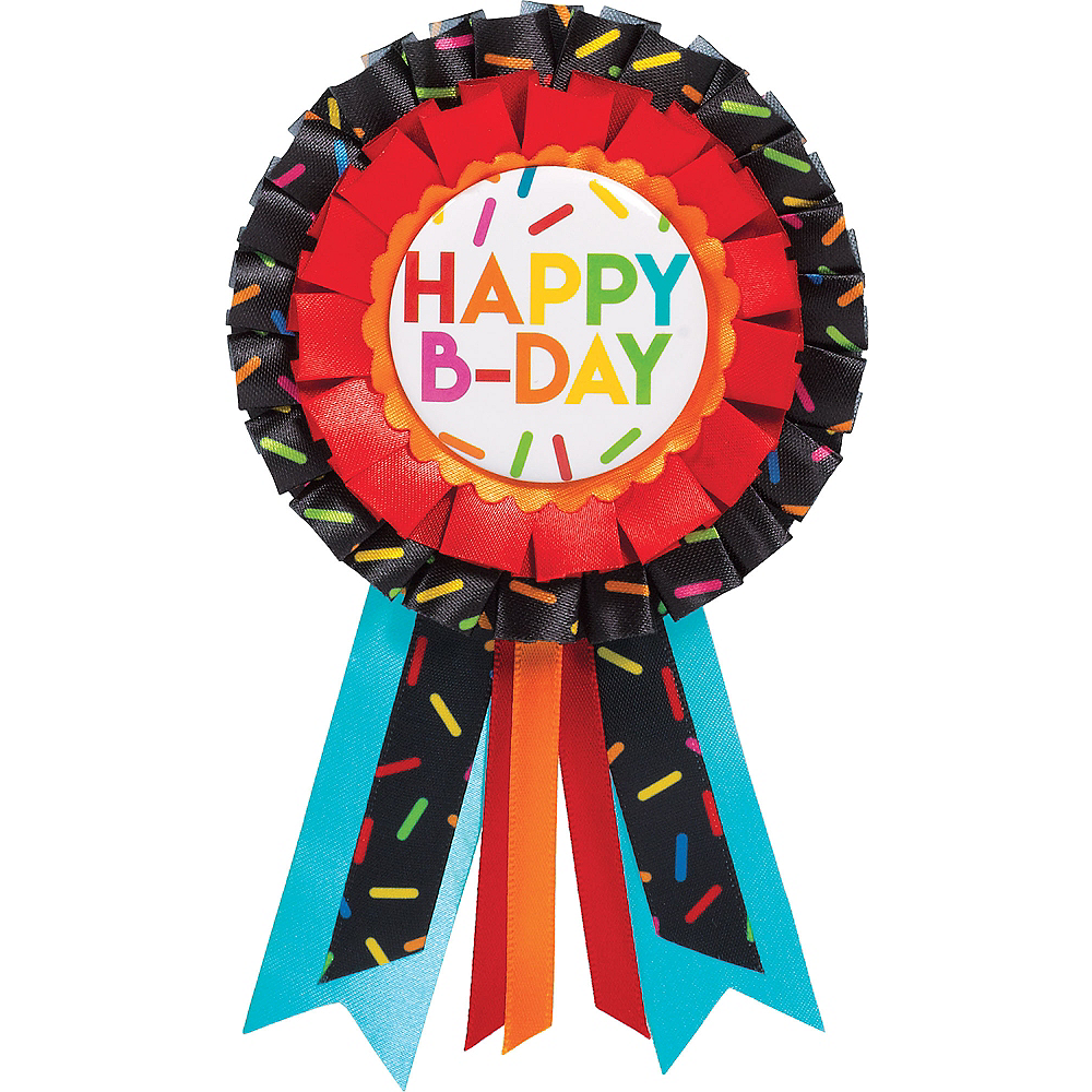 Nav Item for Multicolor Sprinkles Birthday Award Ribbon Image #1