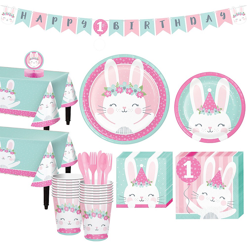 Some Bunny 1st Birthday Party Kit for 32 Guests Image #1