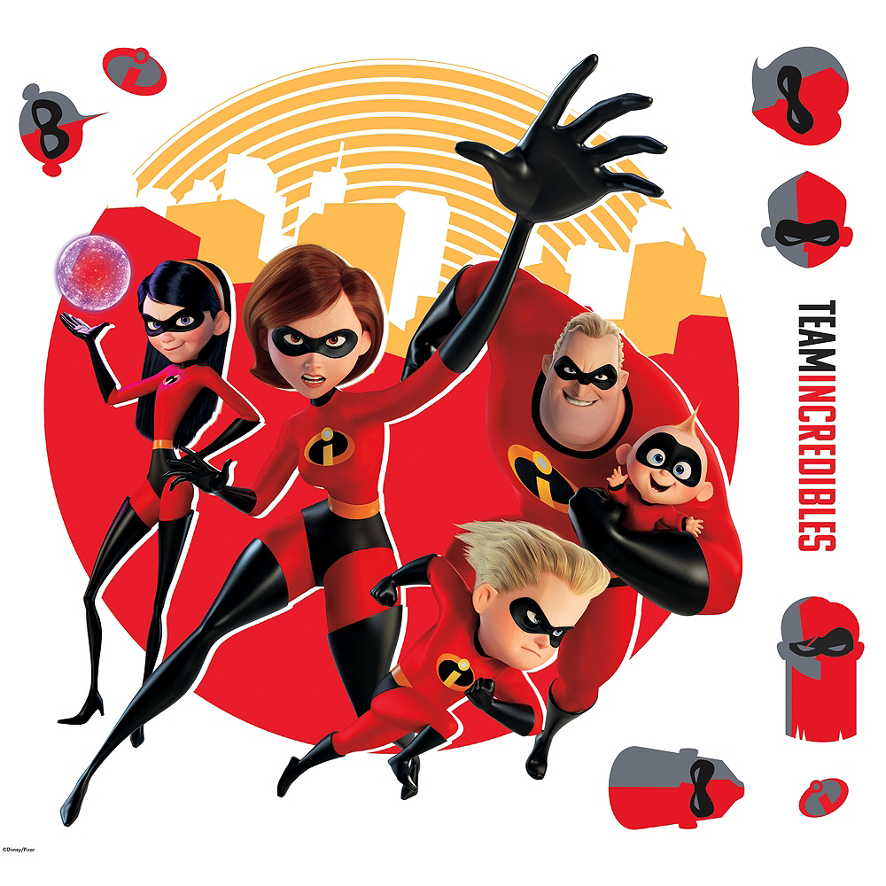 Incredibles 2 Wall Decals 9ct Image #1