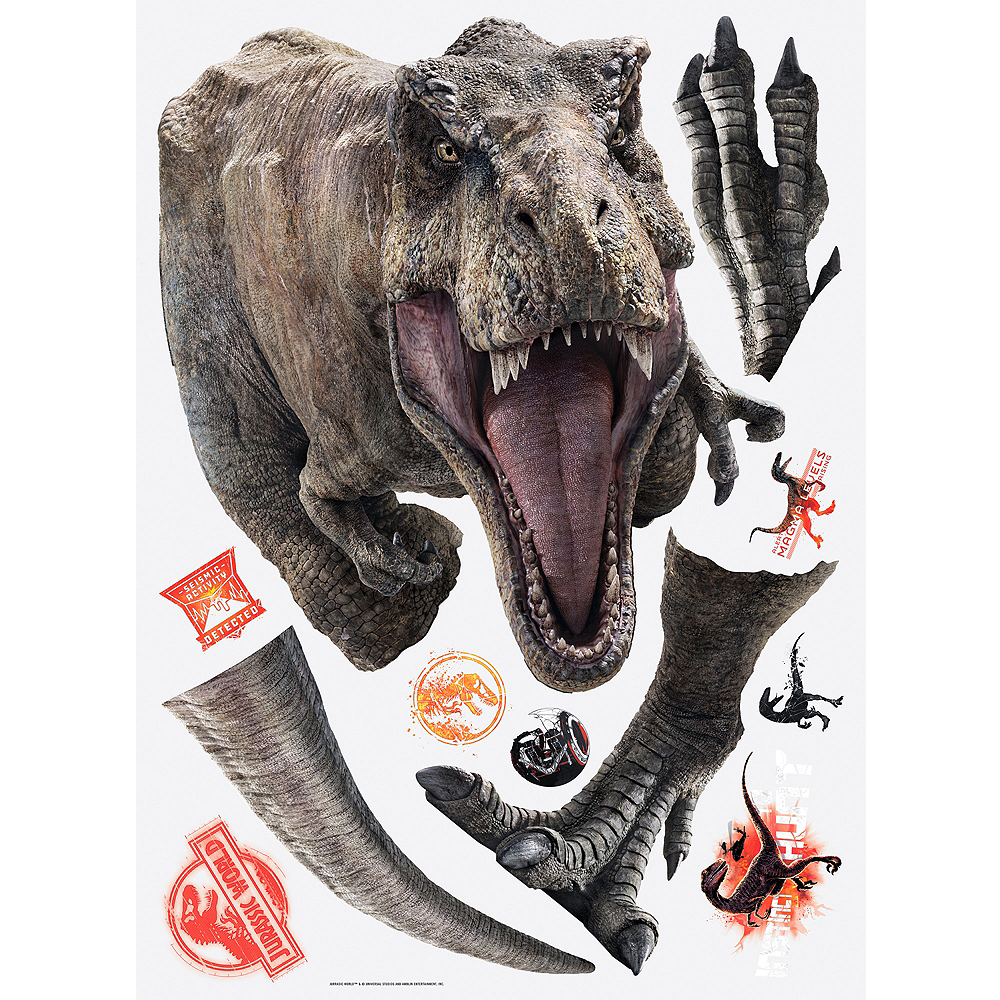 T-Rex Wall Decals 11pc - Jurassic World 2 Image #2