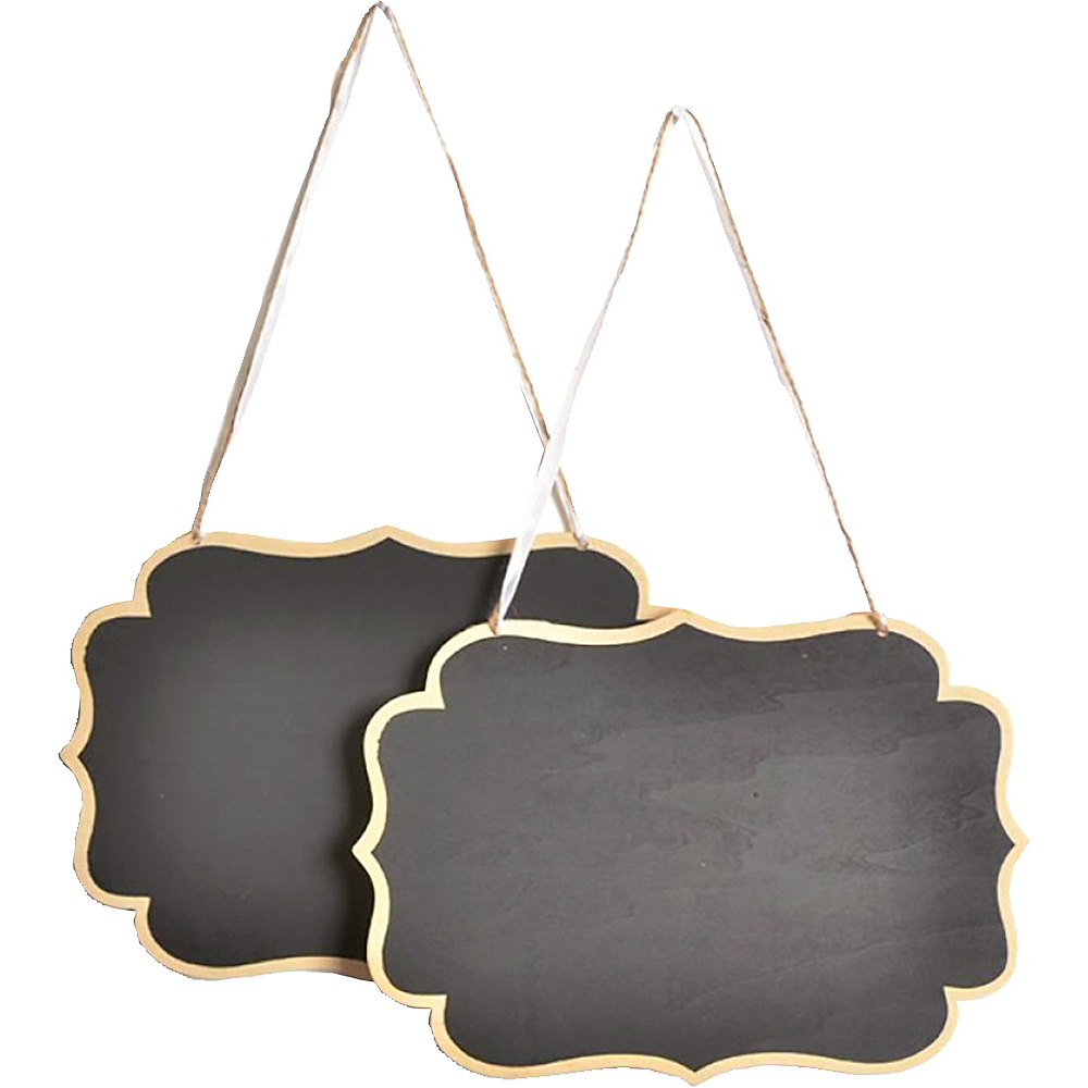 Chair Scroll Chalkboard Signs 2ct Image #1
