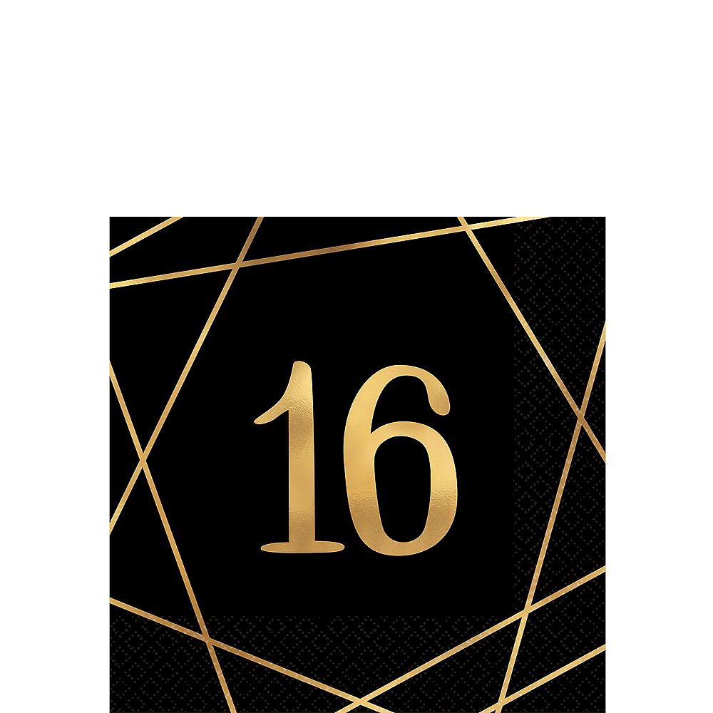 Elegant Sweet 16 Beverage Napkins 16ct Image #1