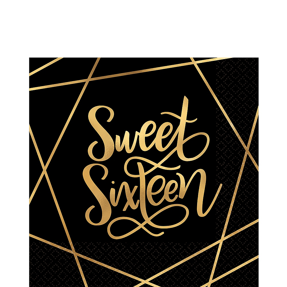 Elegant Sweet 16 Lunch Napkins 16ct Image #1