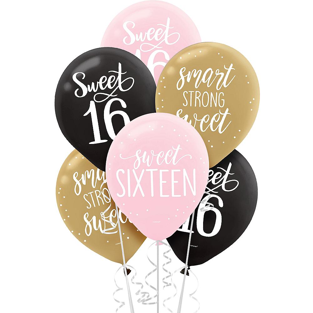 Verwonderlijk Gold & Pink Sweet 16 Balloons 15ct   Party City YD-52