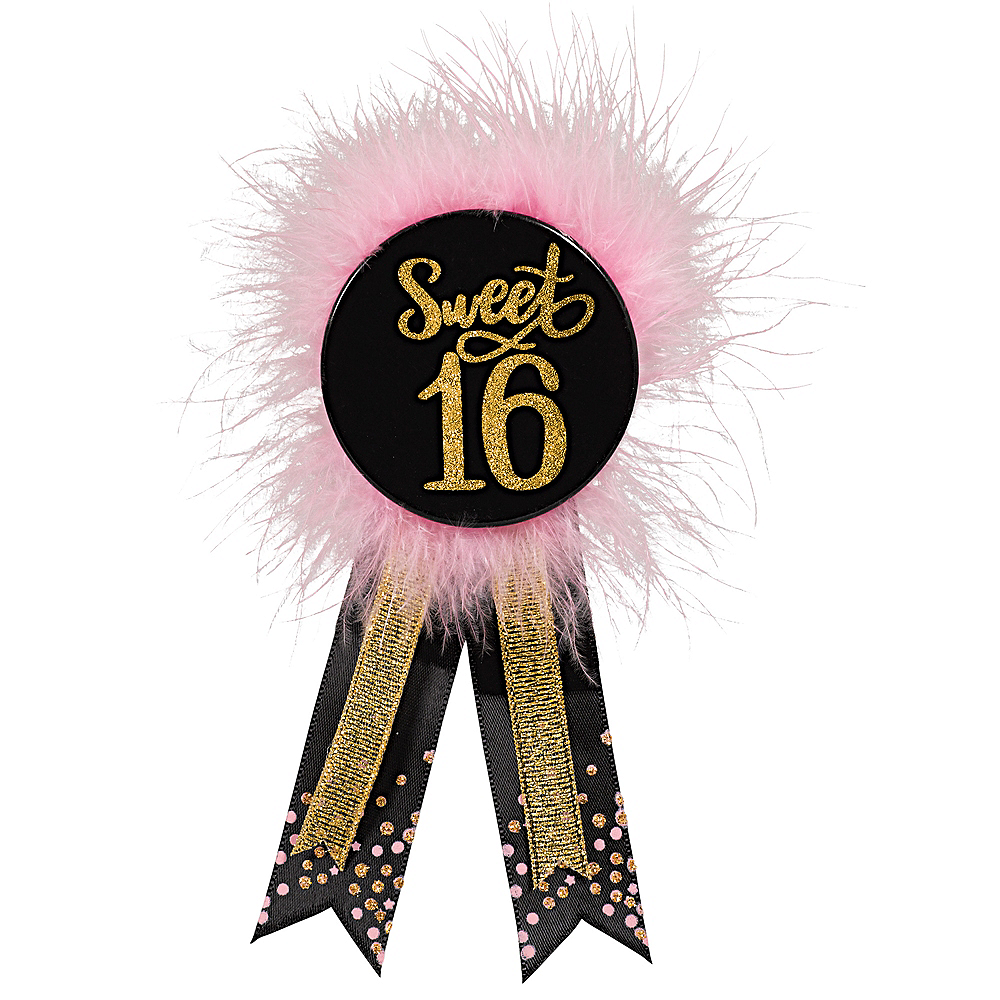 Nav Item for Elegant Sweet 16 Birthday Award Ribbon Image #1
