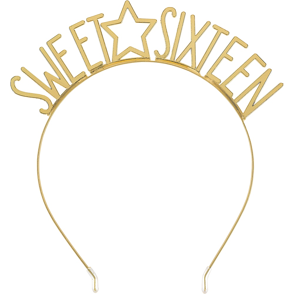 Nav Item for Gold Star Sweet Sixteen Birthday Headband Image #1