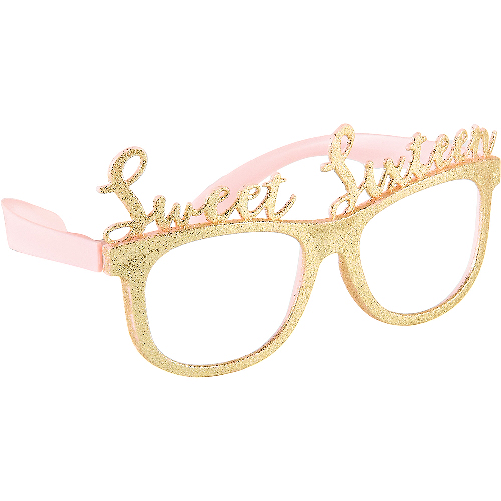 Glitter Gold Sweet 16 Glasses 6ct Image #1