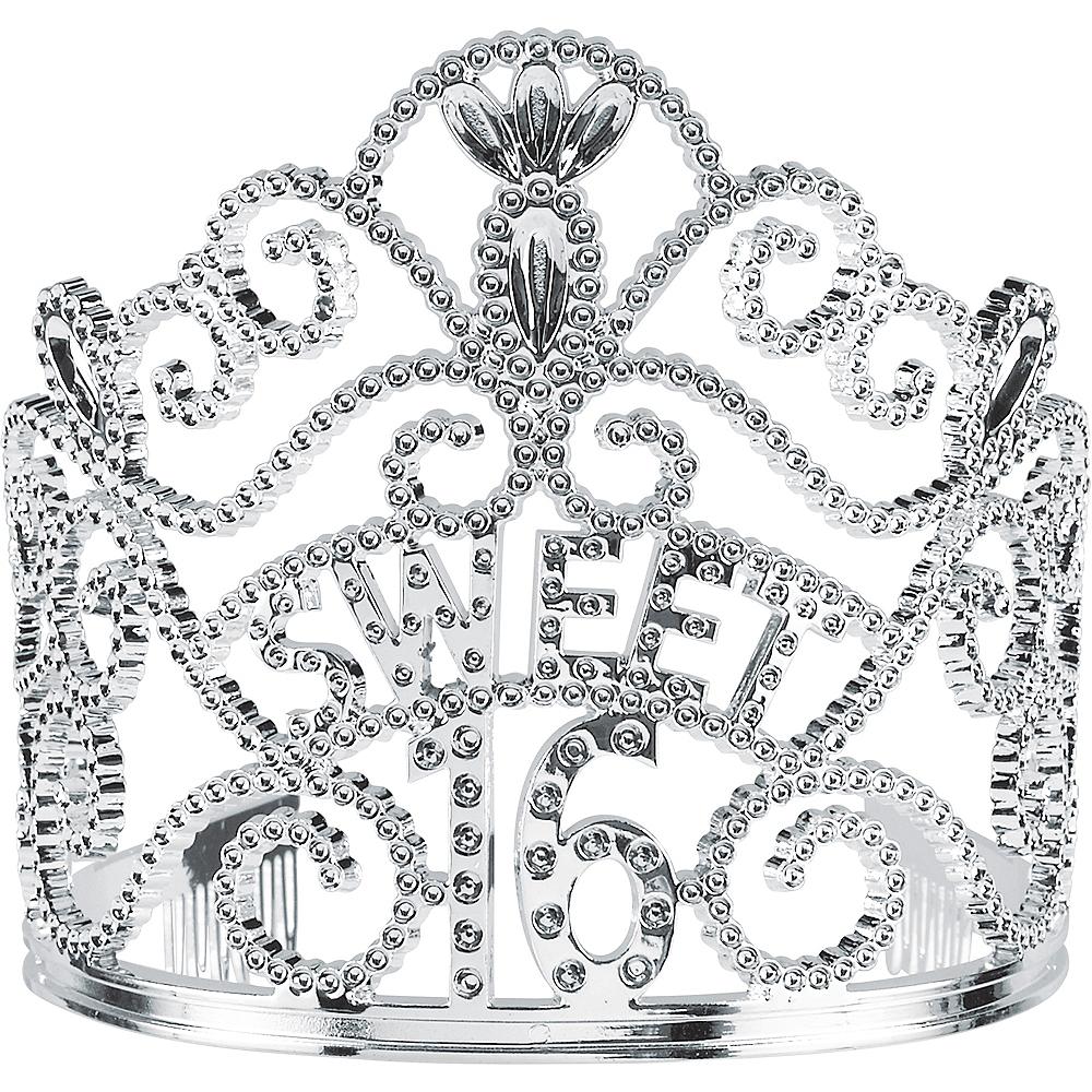 Silver Sweet 16 Birthday Tiara Image #1