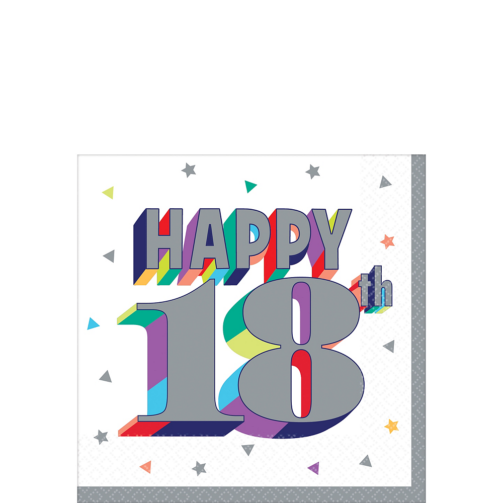 Here's to 18 Birthday Beverage Napkins 16ct Image #1