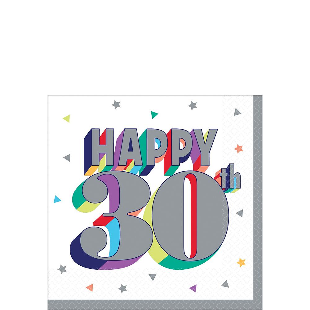 Here's to 30 Birthday Beverage Napkins 16ct Image #1