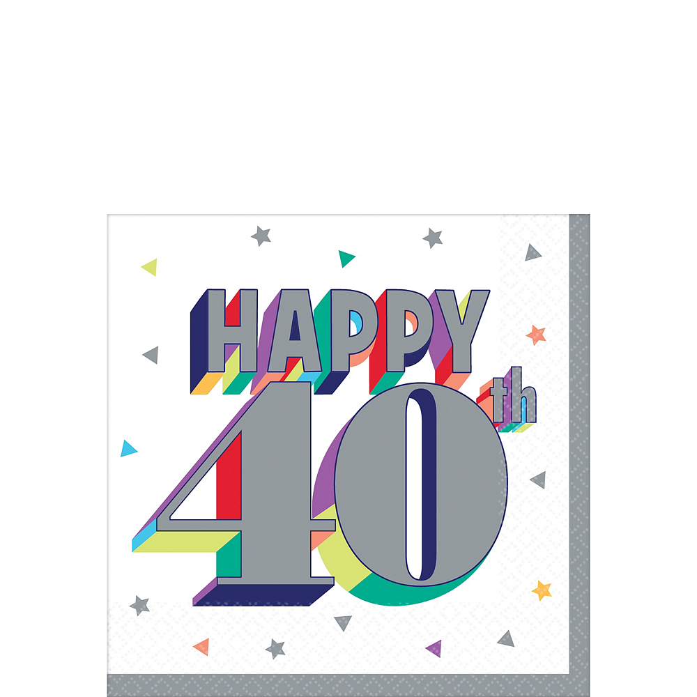 Here's to 40 Birthday Beverage Napkins 16ct Image #1
