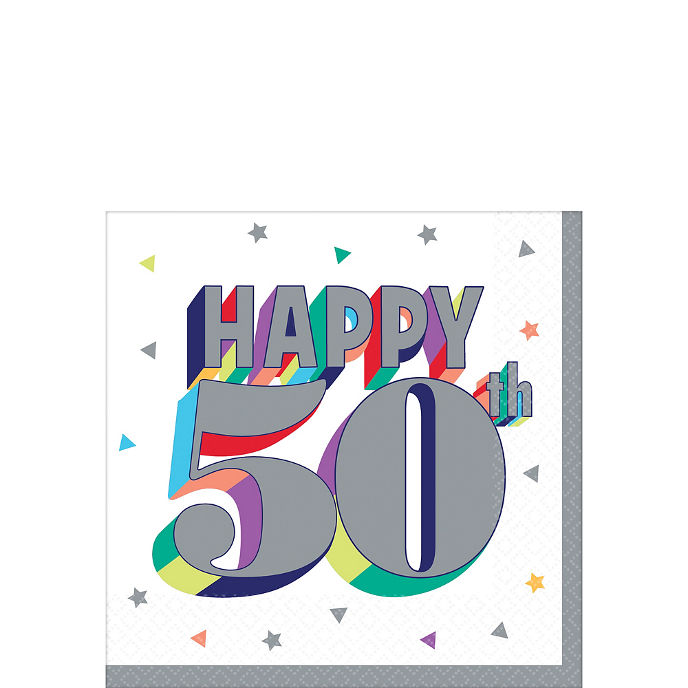 Here's to 50 Birthday Beverage Napkins 16ct Image #1