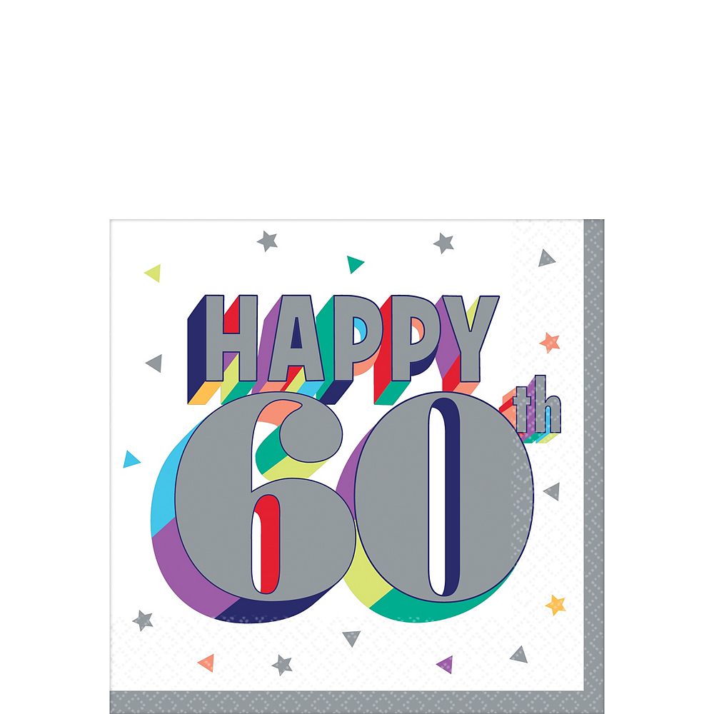 Here's to 60 Birthday Beverage Napkins 16ct Image #1