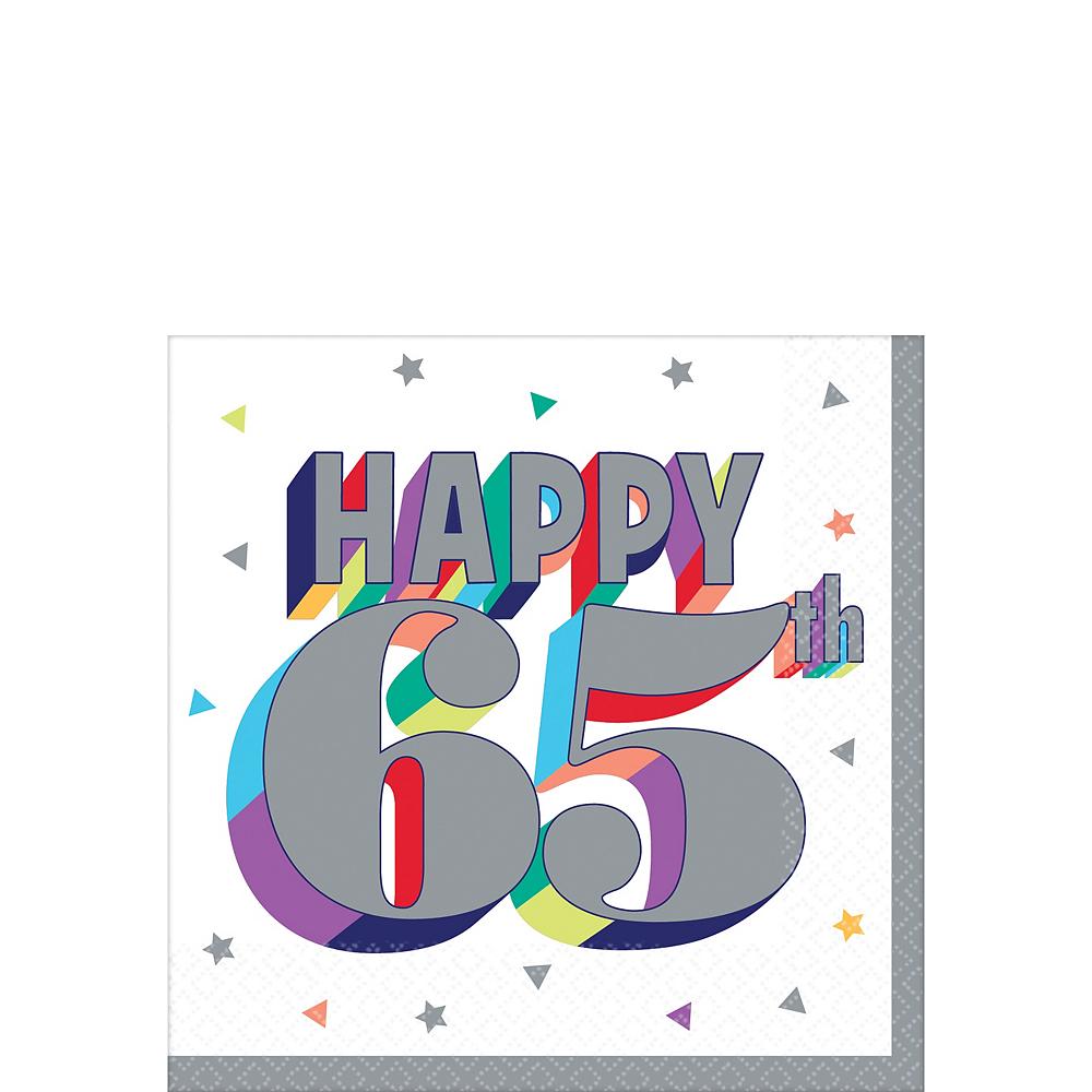 Here's to 65 Birthday Beverage Napkins 16ct Image #1