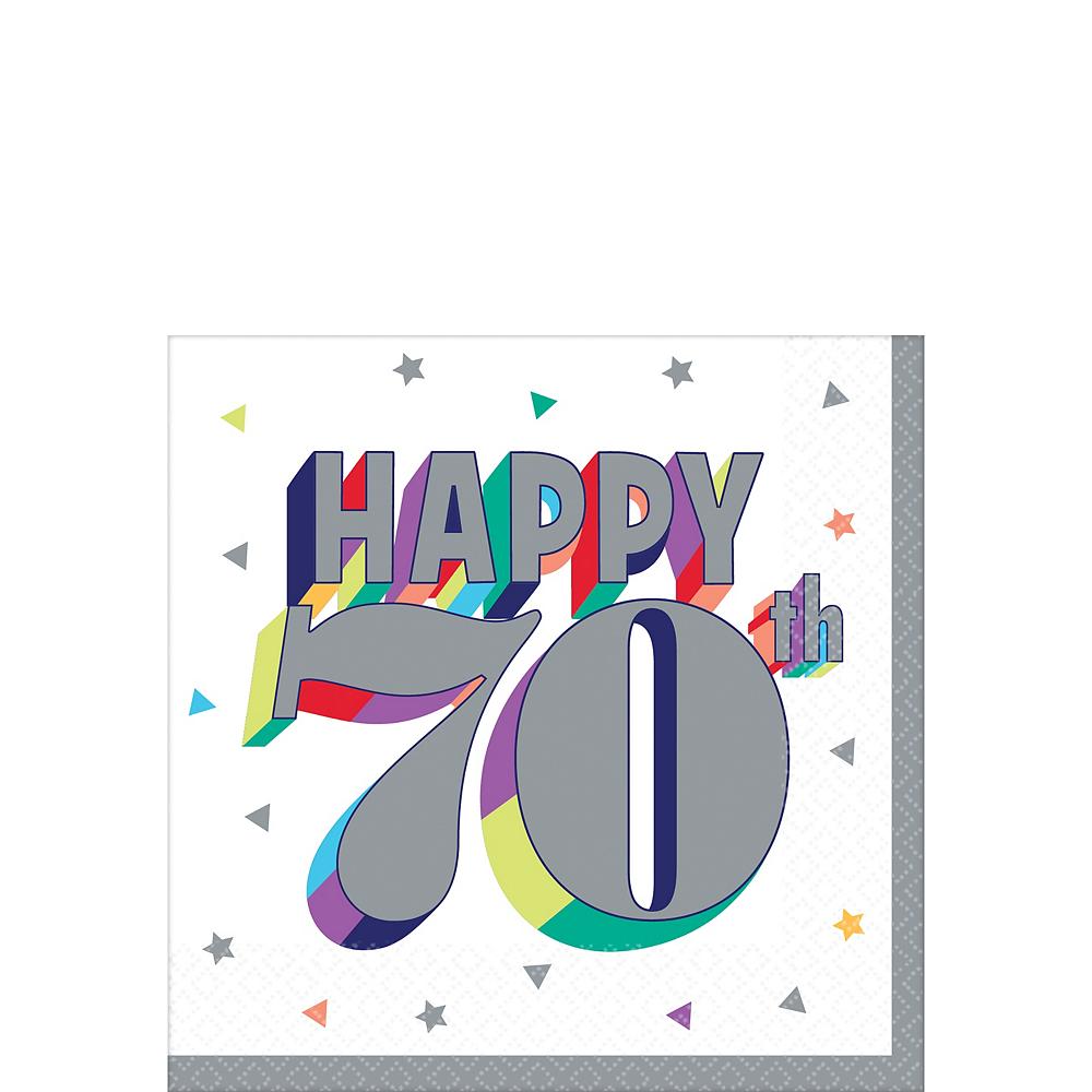 Here's to 70 Birthday Beverage Napkins 16ct Image #1