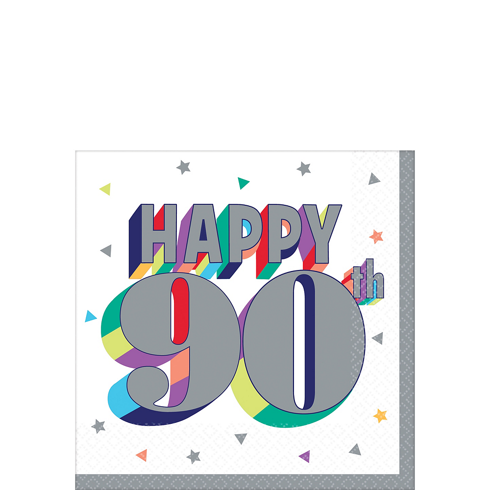 Here's to 90 Birthday Beverage Napkins 16ct Image #1