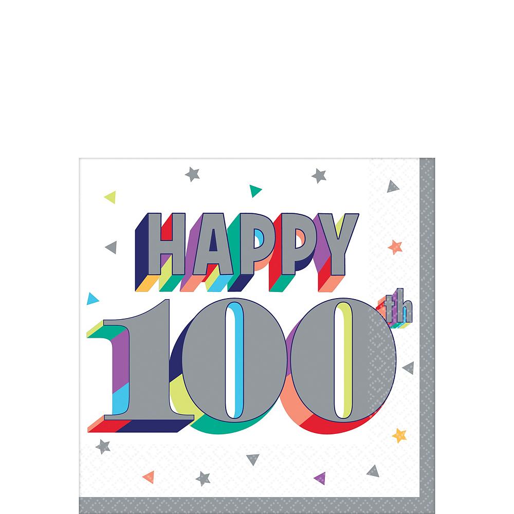 Here's to 100 Birthday Beverage Napkins 16ct Image #1