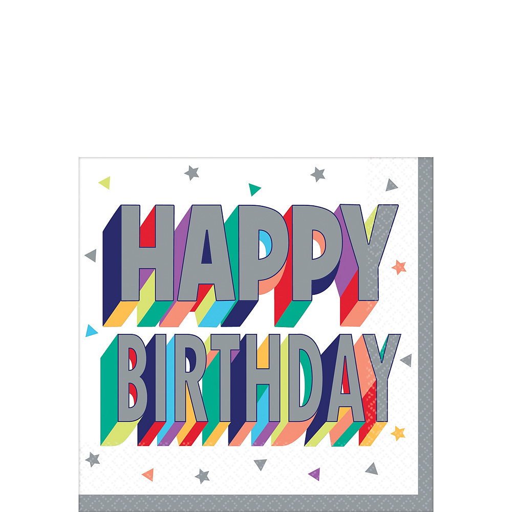 Here's to Your Birthday Beverage Napkins 16ct Image #1