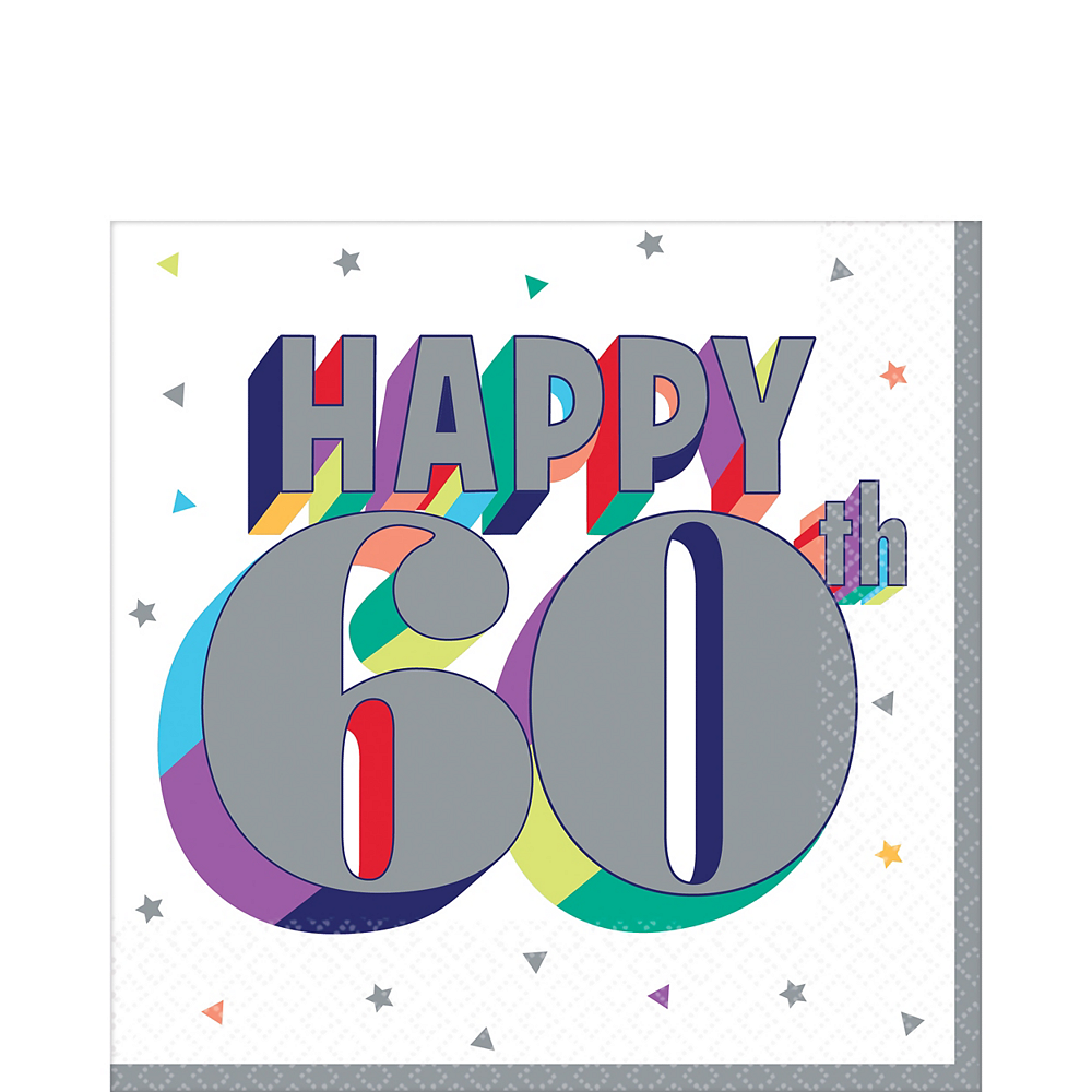 Here's to 60 Birthday Lunch Napkins 16ct Image #1