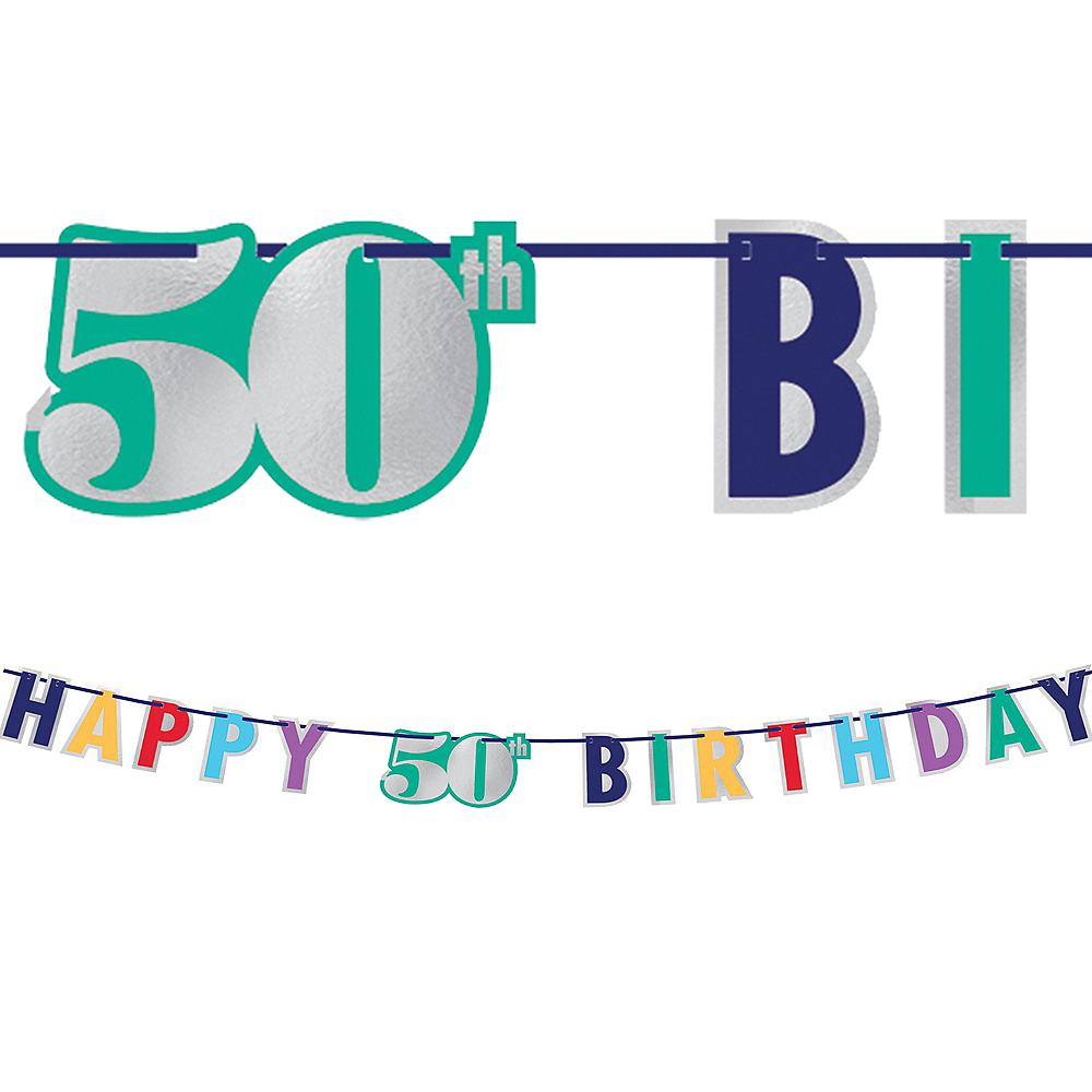 Here's to 50 Birthday Banner Image #1