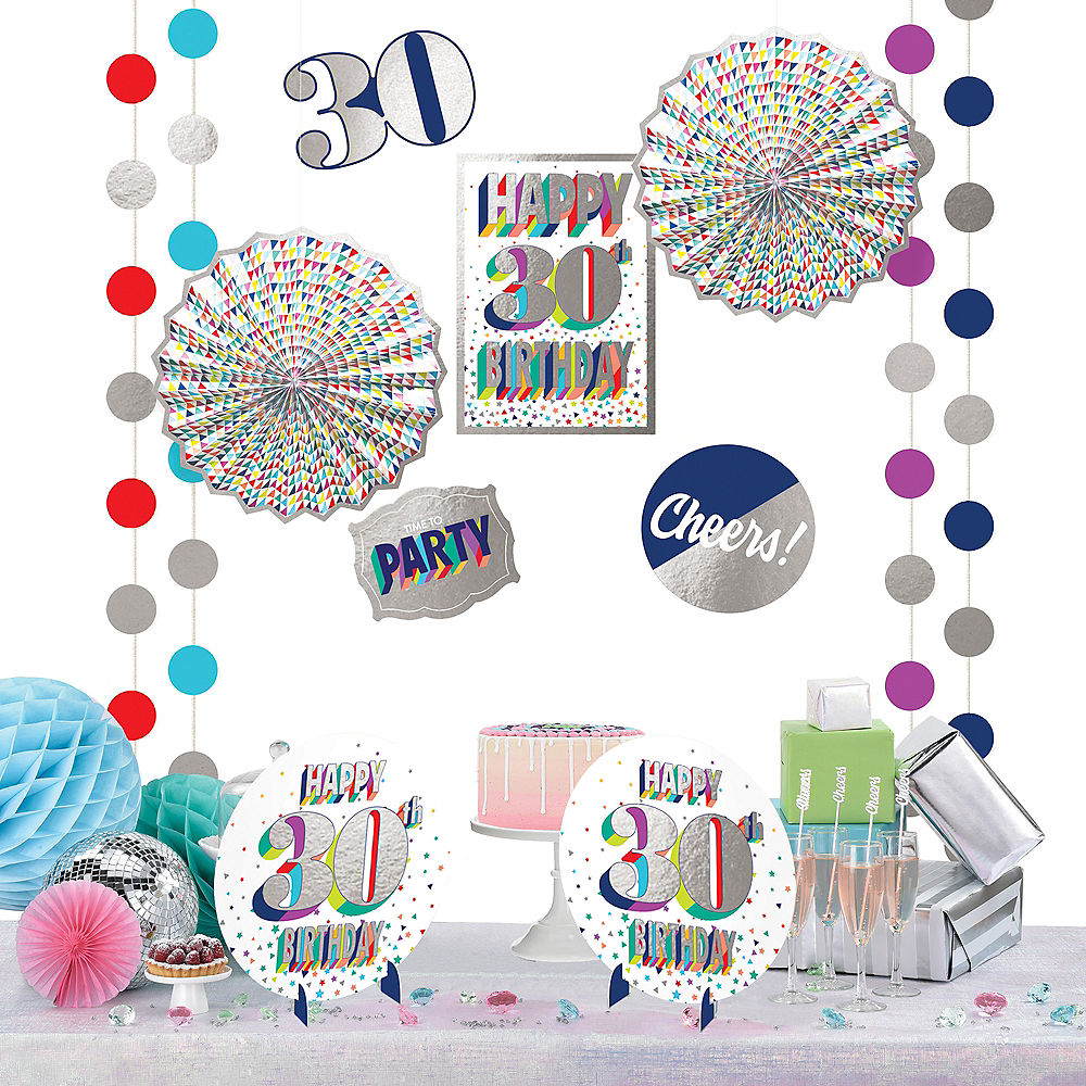 Here's to 30 Birthday Room Decorating Kit 12pc Image #1