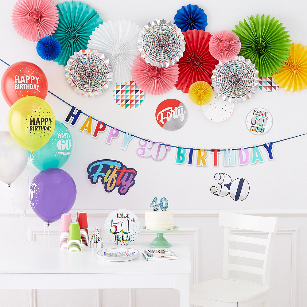 Here's to 40 Birthday Room Decorating Kit 12pc Image #2