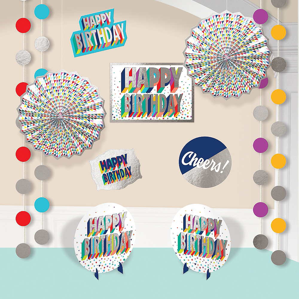 Here's to Your Birthday Room Decorating Kit 12pc Image #1
