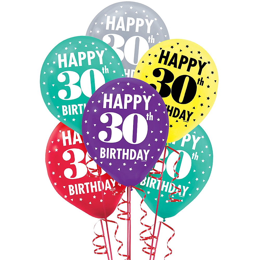 Here's to 30 Birthday Balloons 15ct Image #1