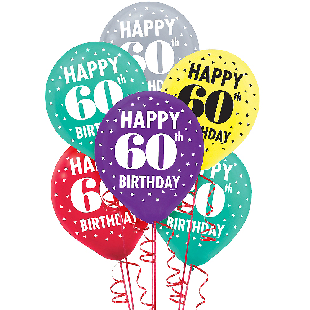 Here's to 60 Birthday Balloons 15ct Image #1
