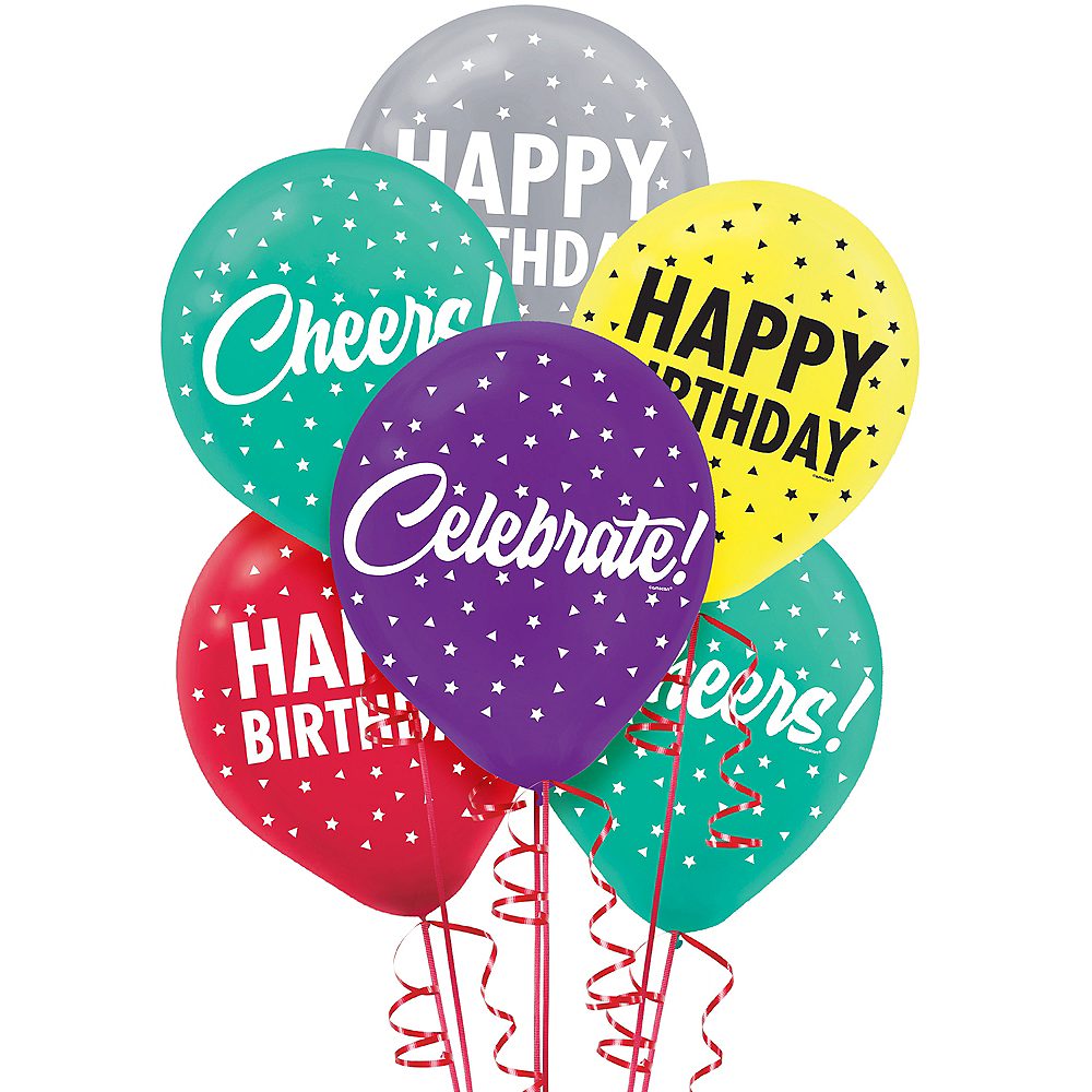 Here's to Your Birthday Balloons 15ct Image #1