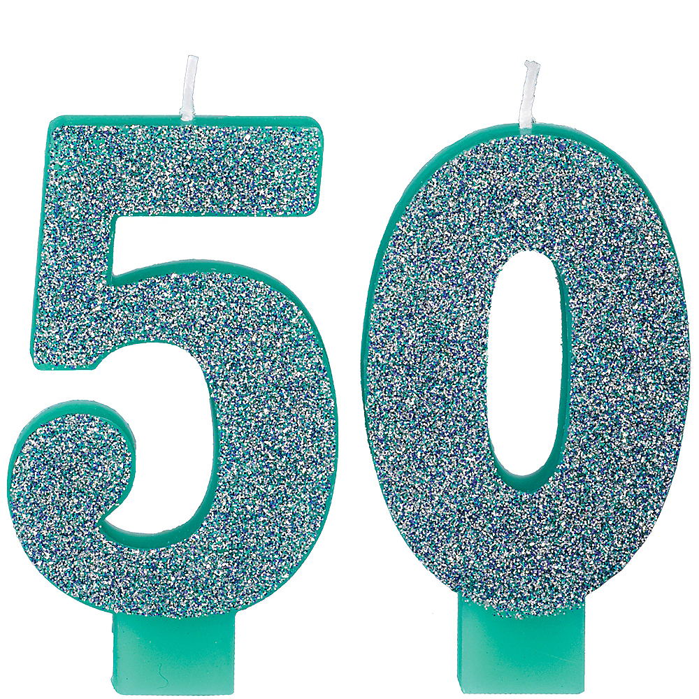 Here's to Your Birthday Number 50 Birthday Candles 2ct Image #1