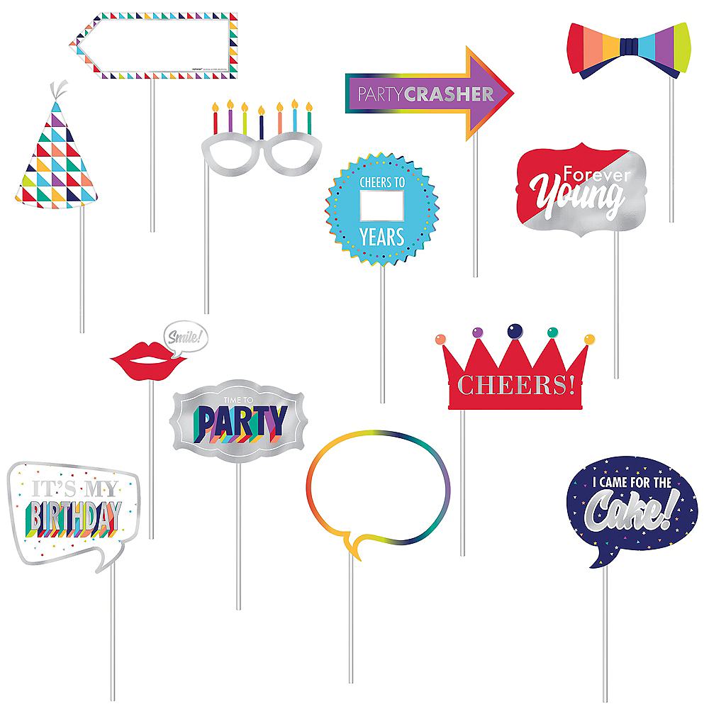 Here's to Your Birthday Scene Setter with Photo Booth Props Image #3
