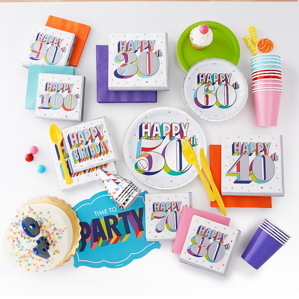 Mini Here's to Your Birthday Party Hats 12ct Image #3