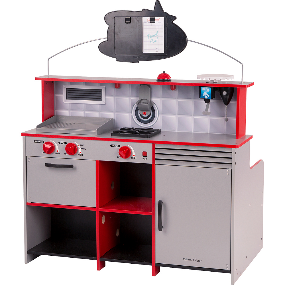 Melissa & Doug Double-Sided Diner Restaurant Play Space Image #2