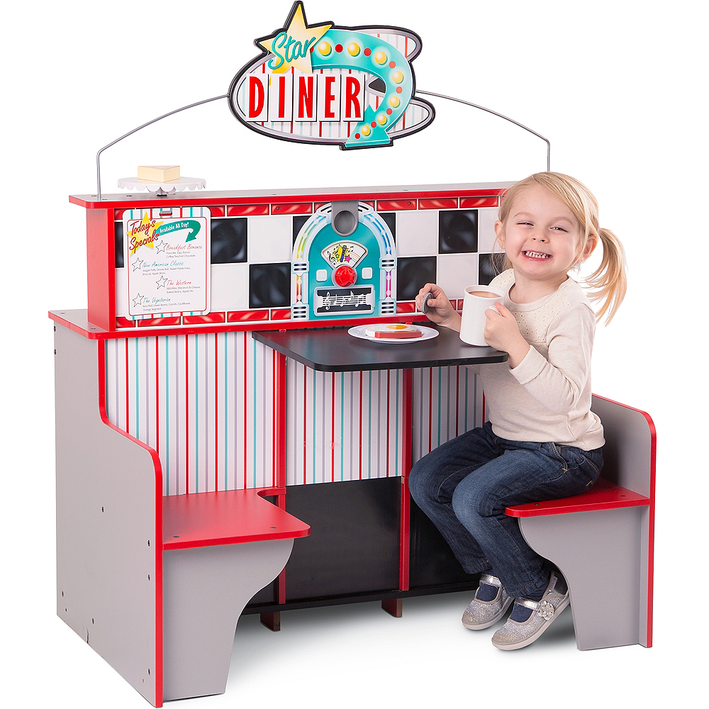 Melissa & Doug Double-Sided Diner Restaurant Play Space Image #4