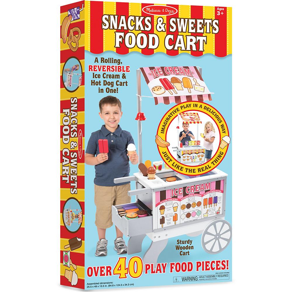 Melissa & Doug Snacks and Sweets Food Cart Image #1