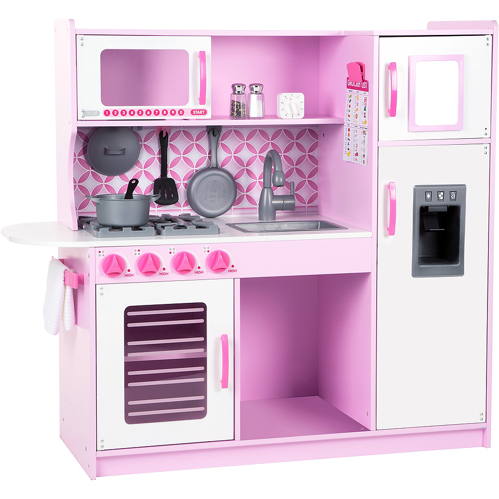 Melissa & Doug Wooden Chef's Kitchen With Ice Cube Dispenser Image #1