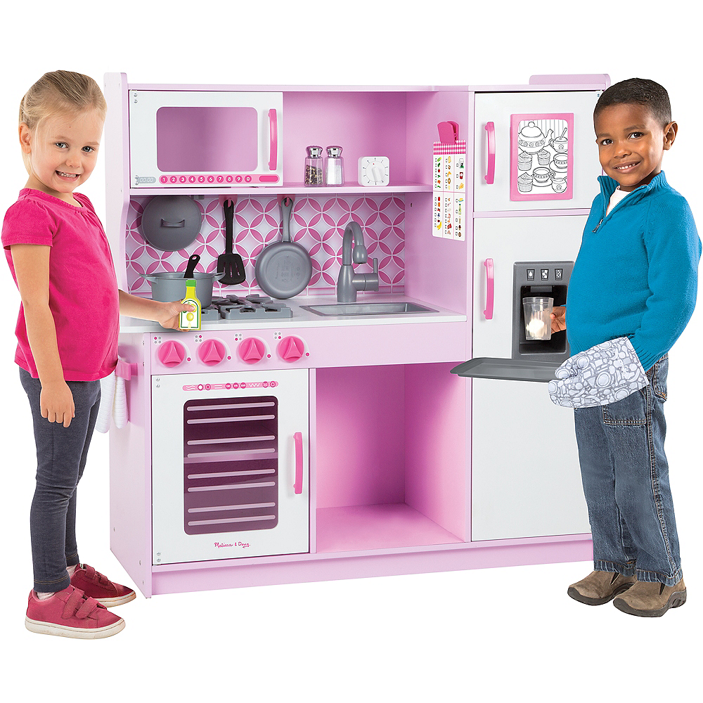 Melissa & Doug Wooden Chef's Kitchen With Ice Cube Dispenser Image #2