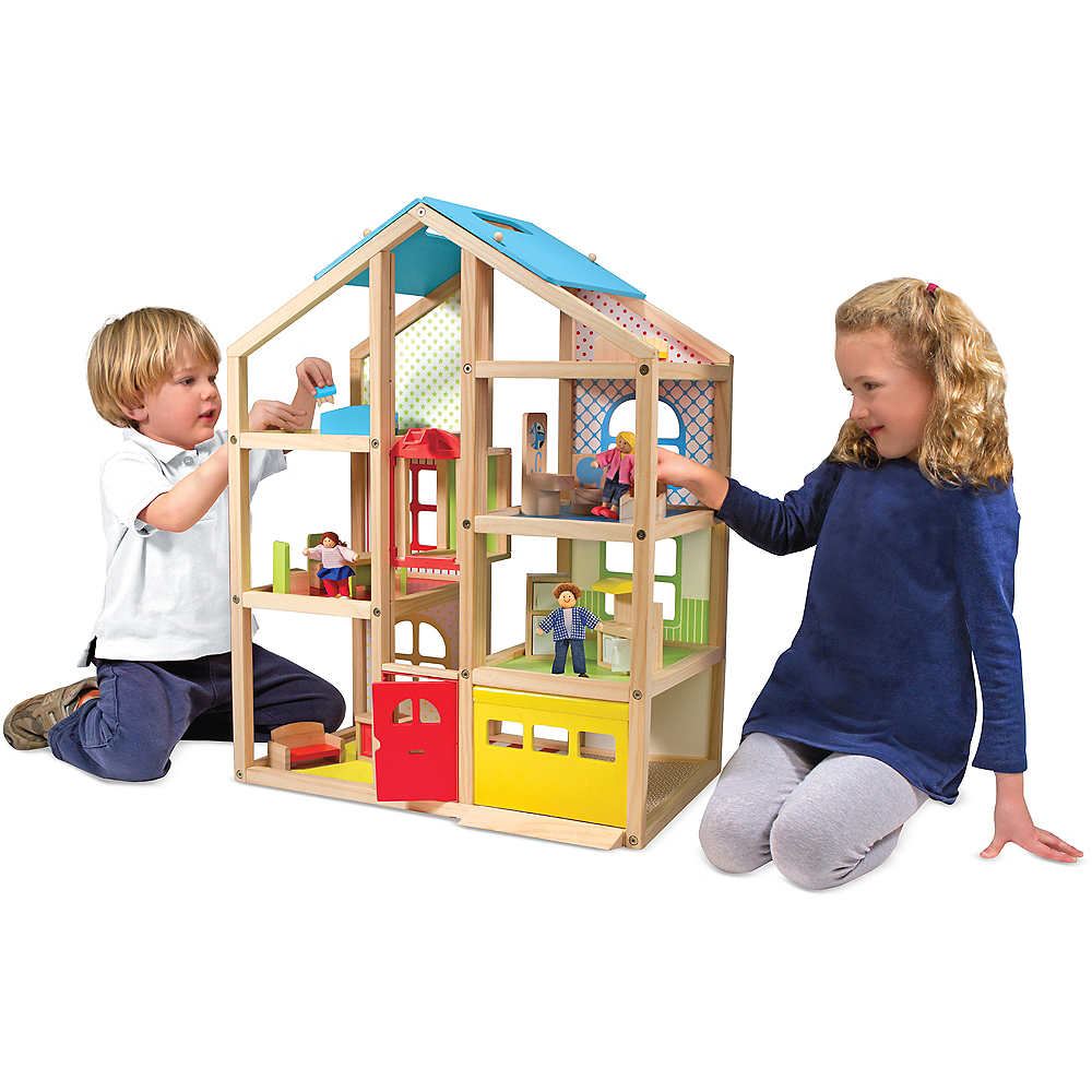 Melissa & Doug Hi-Rise Dollhouse with Furniture Image #2