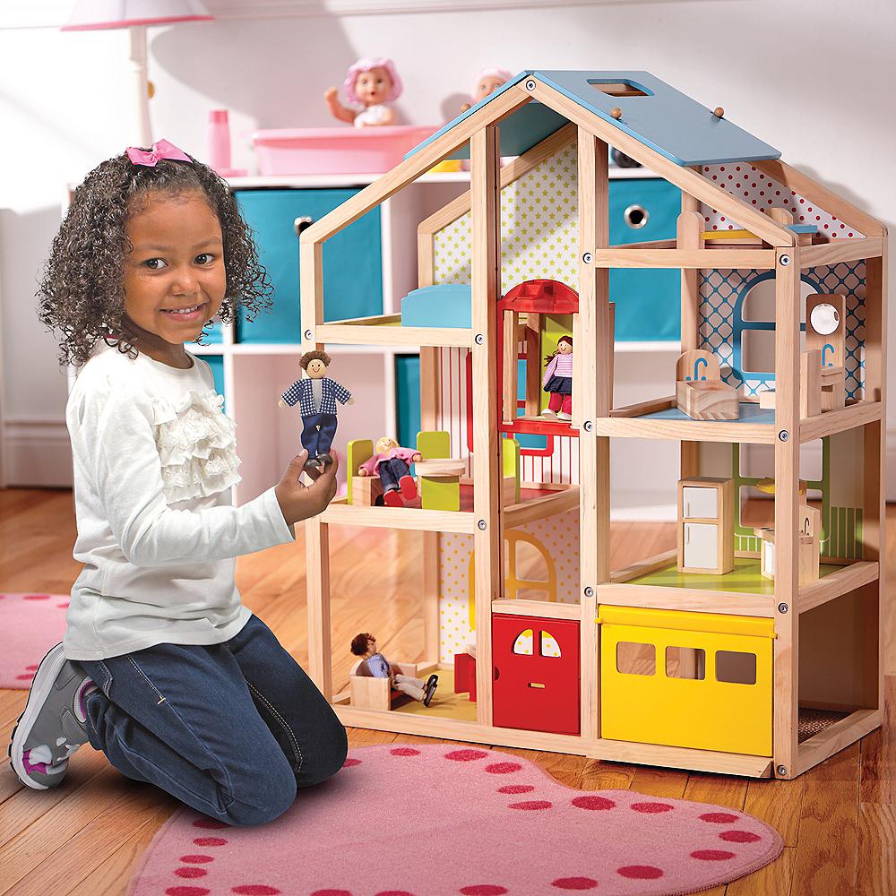 Melissa & Doug Hi-Rise Dollhouse with Furniture Image #4
