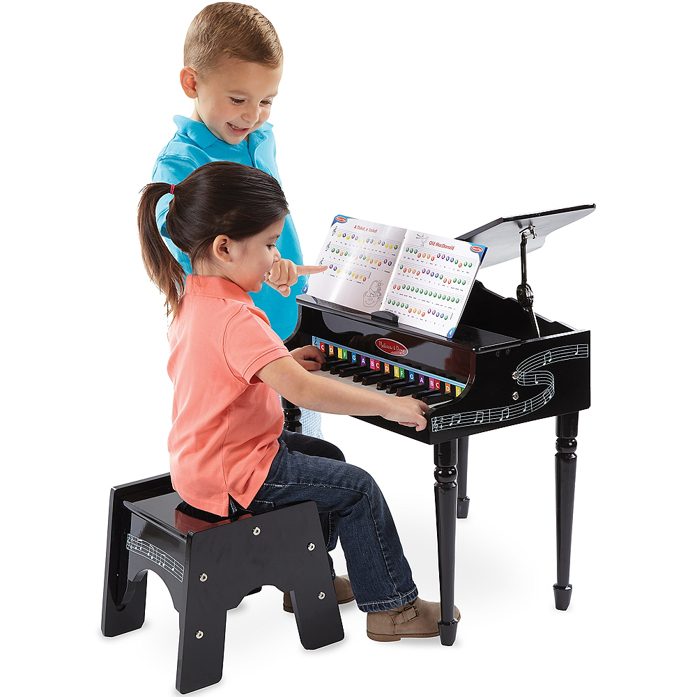 Melissa & Doug Learn-To-Play Classic Grand Piano Set Image #3
