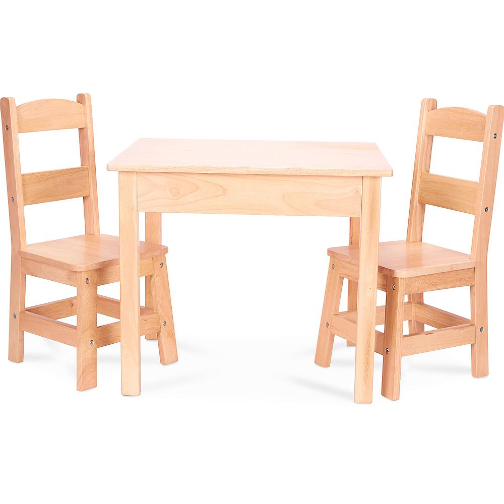 Melissa & Doug Solid Wood Table & Chairs Set 3pc Image #1