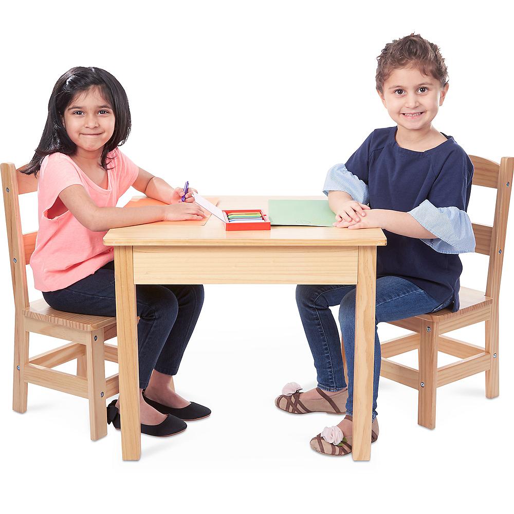 Melissa & Doug Solid Wood Table & Chairs Set 3pc Image #2