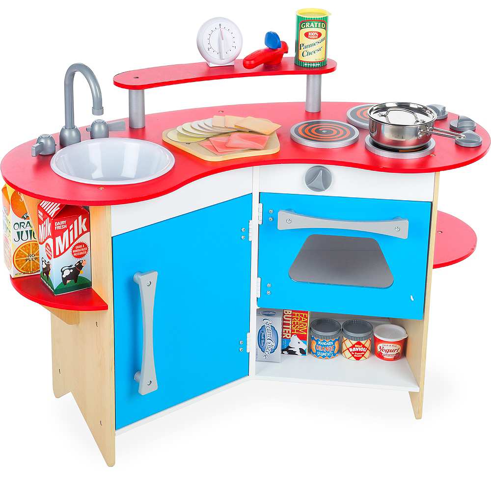 Melissa & Doug Cook\'s Corner Pretend Play Toy Kitchen